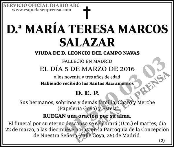 María Teresa Marcos Salazar